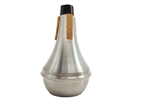 M Y Fly Young Trumpet Straight Mute Aluminium Alloy Silver with Three Strips of Cork