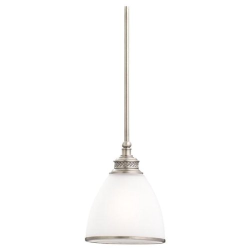 - Sea Gull Lighting 61350-965 Laurel Leaf 1-Light Mini-Pendant in Antique Brushed Nickel