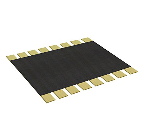 Custom Cut Bed Slat Support Boards with Black Burlap Fabric for Antique or Unique Sized Beds - Twin/Full/Three Quarter Sized - Cut to the Width of Your Choice (49.25'' Wide) by The Furniture Cove