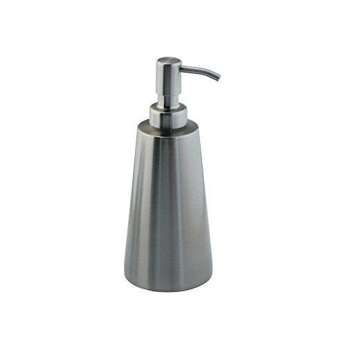 mDesign Soap Dispenser Pump for Kitchen Sinks, Countertops - Brushed Stainless Steel (Stainless Countertops Steel Sinks)