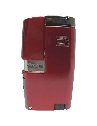 XiKAR Vitara Limited Edition Hot Rod Collection Double Torch Flame Cigar Lighter in an Attractive Gift Box Metallic Red and Gunmetal