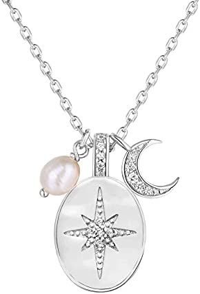 PAVOI X Kristin Melissa – 14K Gold Plated Star, Coin, Butterfly, Lightning Cluster Pendant Necklace for Women