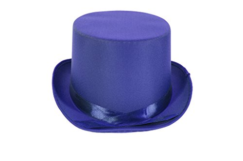 [Dress Up Party Costume TOP Hat (Blue)] (Blue Top Hat)