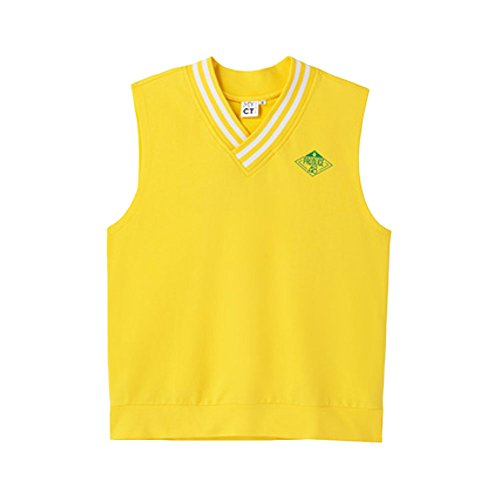 対話報奨金ブランチMYCT Produce48 1St Evaluation Jersey Vest Yellow [並行輸入品]