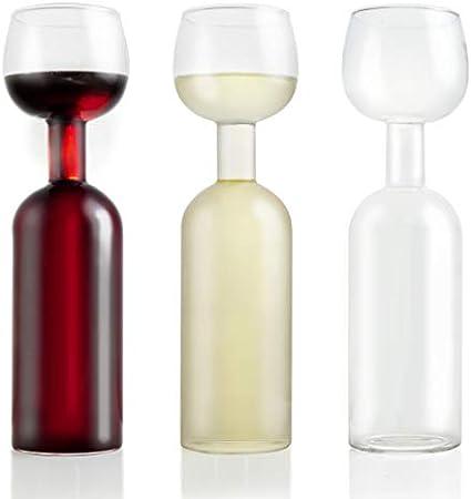 Wine Lovers Botella de Vino de Cristal con rotulador de Tiza - Botella de Vino de Cristal XXL con Lema - Botella de Vino Ideal como Idea de Regalo Divertida - Bolas de Limpieza Incluidas