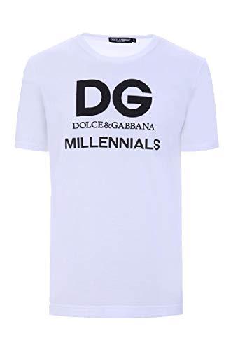 & Gabbana Dolce Dress Shirt Cotton (Dolce e Gabbana Men's G8iv0tg7oxhw0800 White Cotton T-Shirt)
