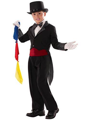 Forum Novelties Kids Child Magician Tailcoat Costume, Black,
