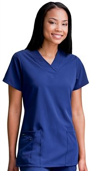 Jockey Women's Scrubs V-Neck Crossover Scrub Top, plum berry, S And S Berry