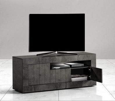 dafnedesign.Com – Mueble para TV – Color: Óxido – Mueble para TV 3 Puertas con Compartimento A día – Medidas: CM. 138 X 42 X 56h – de Montar (STP): Amazon.es: Hogar