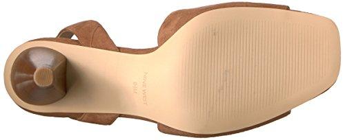 Tacco Camoscio Donne Nove Quilty Ovest In Sandalo Delle Naturale Camoscio Scuro wqa8a1X