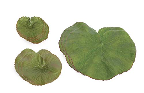 The Bridge Collection Set of 34 Artificial Floating Lily Pad Leaves - Lily Collection Pond