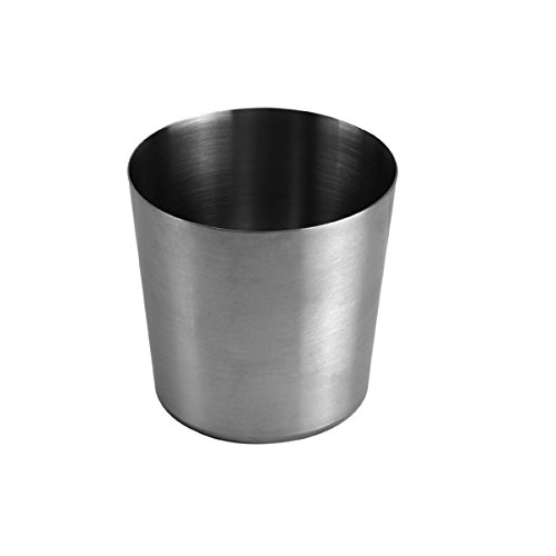 Stainless Steel Fry Cup with Satin Finish, 3-3/8-IncH x 3-3/8-Inch Table Service ()