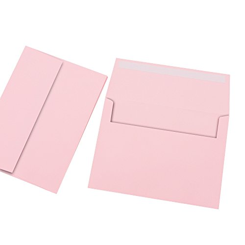 A7 Pink Invitation 5x7 Envelopes - Self Seal, Square Flap,Perfect for Baby Shower, 5x7 Cards, Weddings, Birthday, Invitations, Graduation, 5.25 x 7.25 inches, 100 Pack, (Pink) Photo #2