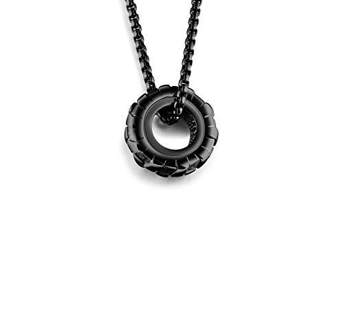 Tire Black Steel - Men's Heavy Titanium Steel Necklace,Black Car Tire Pendant Necklace for Men