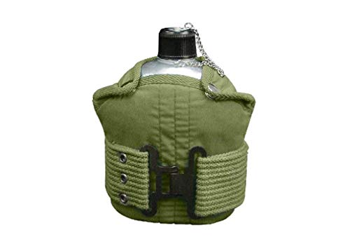BlackC Sport 1 Quart Aluminum Canteen with Olive Drab Pistol Belt Kit