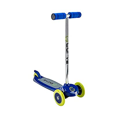 Curve ACTSCOT-487CV-BLU Tilt And Turn 3-Wheel Scooter, Easy Fold-N-Carry Design, Ultra-Lightweight, Portable Folding Design Comfortable & Safe Durable & Easy To Ride, Blue : Sports & Outdoors