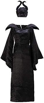 Disfraces de terror GJBXP Disfraz de maléfica Traje de bruja Disfraz de bruja de demonio Disfraces Disfraces de Halloween para mujer Tallas grandes XL Negro: Amazon.es: Belleza