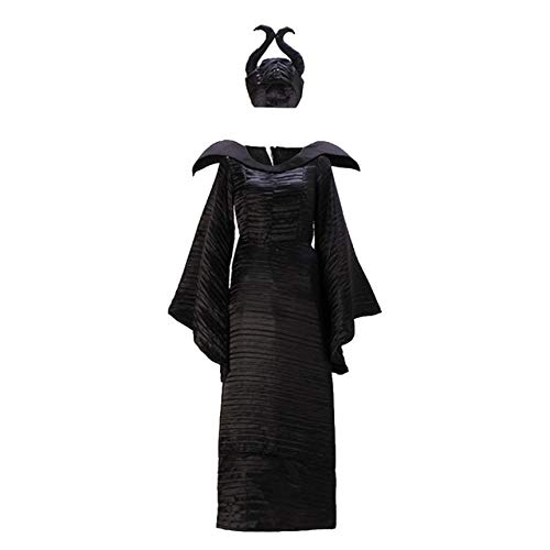 WSJDE Disfraces de Terror Disfraz de maléfica Traje de Bruja ...