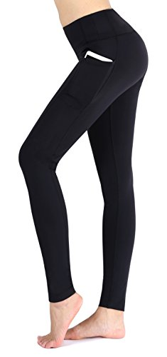 Neonysweets Women's Workout Leggings With Pocket Running Yoga Pants Black L Lycra Workout Pants