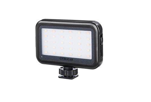 GVB On camera Mini LED Video Light with USB Charge Port
