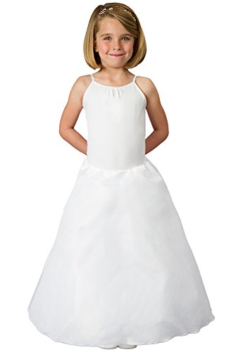 Cinderella Dress Petticoat Skirt for Girls Gives Shape to Disney Princess Dress, Poofy White Tulle Slip Covered in Layer of Taffeta to Protect Light Fabric Dresses from Crinoline Underskirt, Buy -