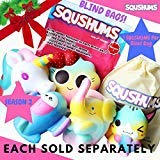 Original Squishies by Squshums , Slow Rising Fruit Scented Jumbo Squishys : 1 Squishy Toy Per Blind Bag : Get a Unicorn, Airplane, Heart Cat, Strawberry Cake OR Elephant Toys : FREE Carrying Case!