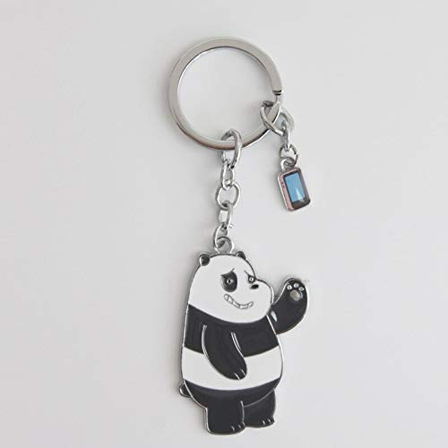 Key Chains - Dongmanli We Bare Bears Cartoon Figures Toy The Three Bare Bears Grizzly Panda ice Bear Figure Keychain Pendant Toys - by Mct12-1 PCs