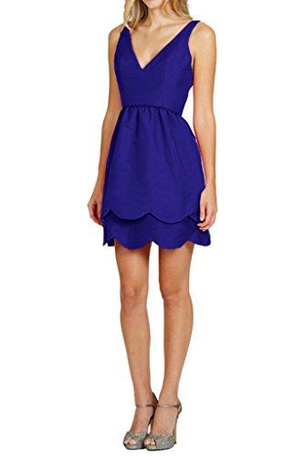 Dress V Length Simple Dress Mini Double Cocktail Neck Blue Royal Straps Avril Homecoming RB4wTxqT