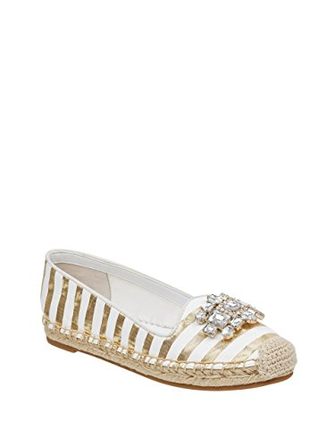 GUESS Women's Gill Diamante Embellished Espadrilles (Embellished Striped)