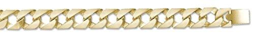 Or 9ct lourds en fonte poli chaîne gourmette Collier 71,1cm