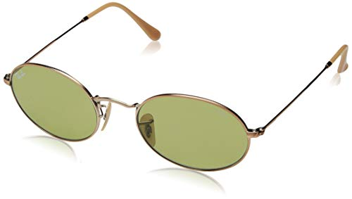 Ray-Ban RB3547N Oval Evolve Photochromic Sunglasses, Copper/Green Photochromic, 54 ()