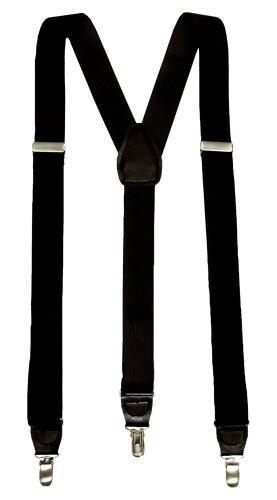 "Dockers Men's  Dockers  1 1/4"" Polyester Elastic Suspender,Black,One Size"
