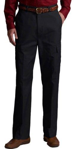 (Ed Garments Men's 2568 Two Cargo Pockets Utility Pants (Black 48-30))