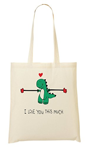 Dinosaur T-Rex I You This Much Funny Graphic Sac Fourre-Tout Sac À Provisions