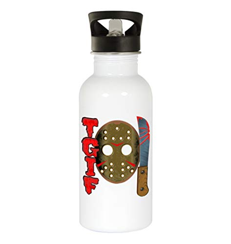 TGIF 13th #341 - Funny Humor 20oz White Water Bottle -