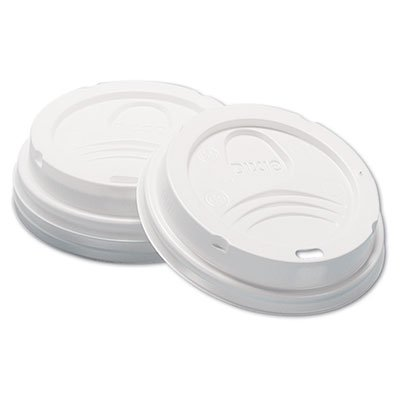 Dixie® Dome Hot Drink Lids, 8oz Cups, White