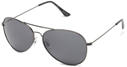 Polaroid Sunglasses 04214S Polarized Aviator Sunglasses,Gunmetal & Gray,58 - Polarized Polaroid Sunglasses