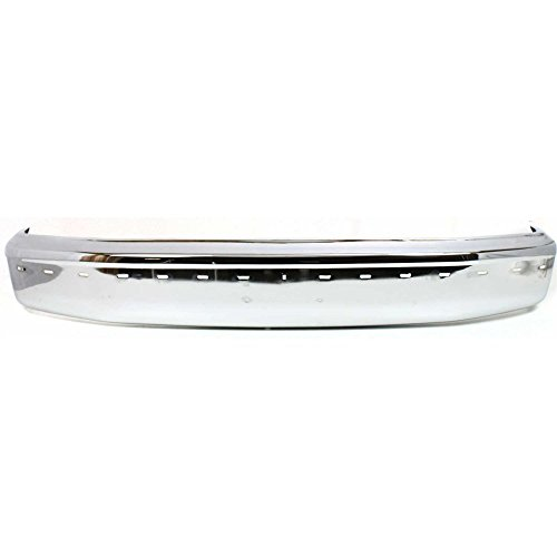 Bumper for Ford Bronco 92-96/F-Series 92-97 Front Bumper Chrome w/Pad Holes ()