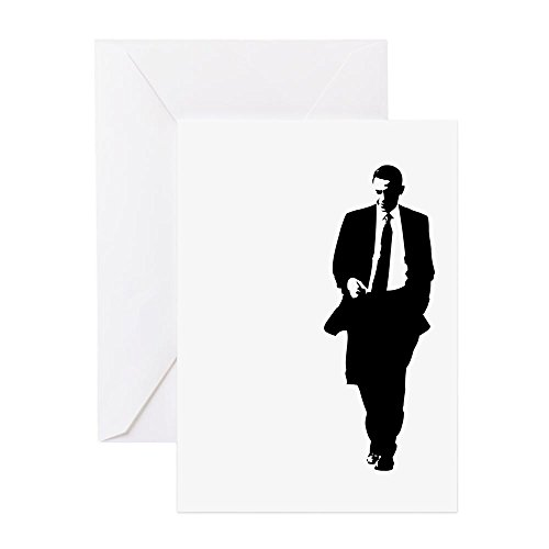 CafePress - Bigobama.Png - Greeting Card (10-pack), Note Card with Blank Inside, Birthday Card ()