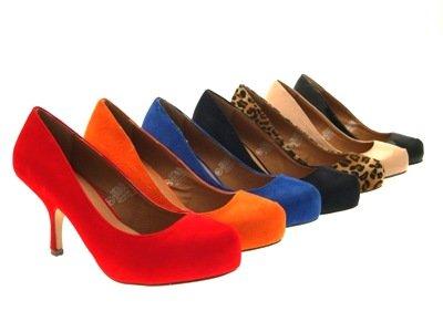 LD Outlet Ladies Square Toe Stiletto Court Shoes Stiletto Heel Dress Party Shoes UK Size Suede Black 6VquQJG3