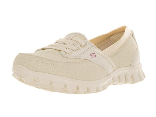 Natural On 2 7 Flex EZ Skechers Sneakers Privileges Womens Slip P8Y6wq