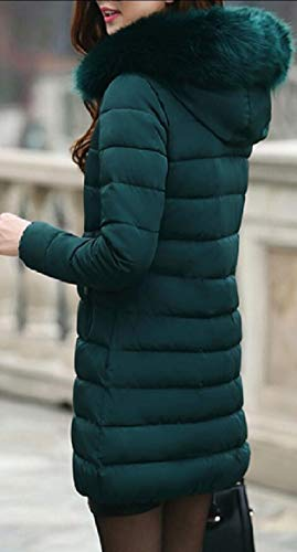 Outdoor Green Parka Lined Coats Down Long security Jacket Women Hoodie Winter Blackish qa4RUFx