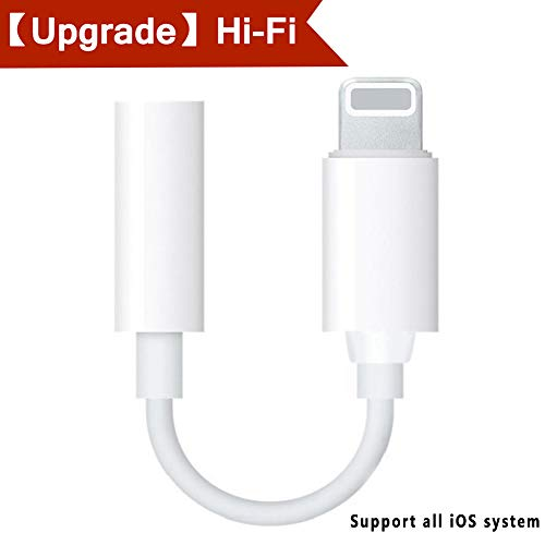 Price comparison product image Pilloit Phone 7 / 8 / x / 10 Headphone Adapter Jack Charger Cables Phone Accessories 2 in 1 3.5mm Audio Adapter Charging Connector Earphone Music Splitter Headset Adaptor Female Music Stereo Extender-White
