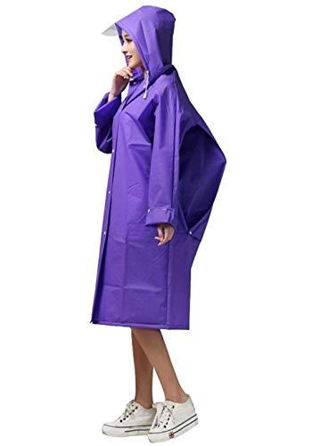 Eva De Violet Poncho Rainwear Pluie Imperméable Moto Vélo Fille Femmes Transparent Veste Classique wXFfqY