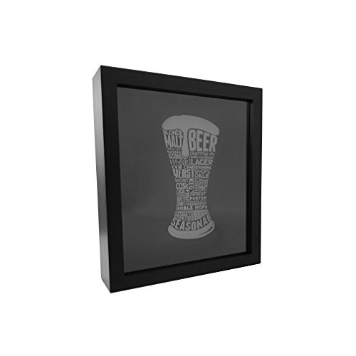 Beer Bottle Cap Holder Shadow Box by Proper POur
