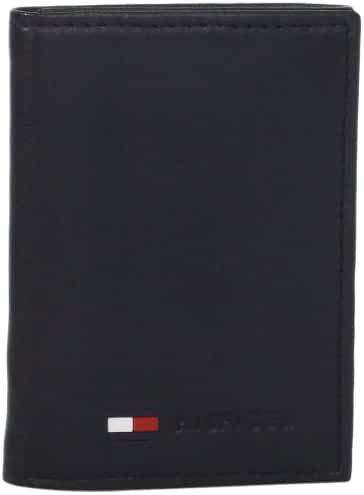 Tommy Hilfiger Men's Polished Lamb Trifold Credit Card Wallet