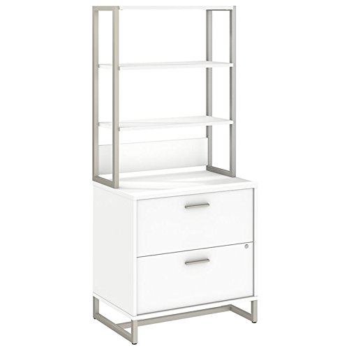 Office by kathy ireland Method Lateral File Cabinet with Hutch in White