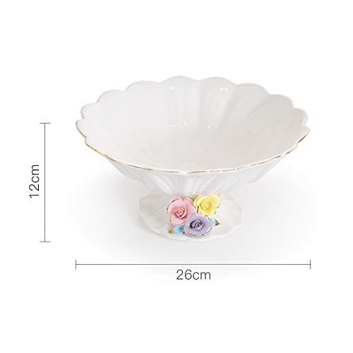 Handmade Floral Fruit and Vegetable Ceramic Plate Household Decoration Plate Simple Handmade Artwork 12x26cm White