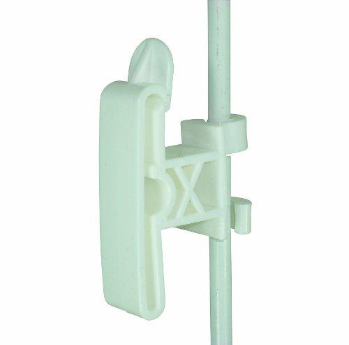 (Tipper Tie Round Post Clip-On 2-Inch Tape Insulator, 3/8-Inch, White)