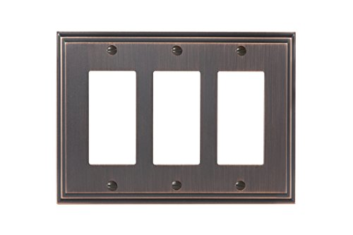 - Amerock BP36520ORB Mulholland 3 Rocker Wall Plate - Oil-Rubbed Bronze